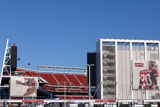 Masons at Levi Stadium preferred water-repellent mortar because of its longer board life.