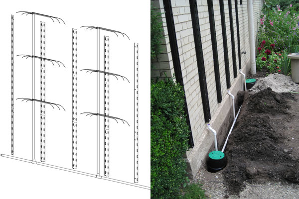 Irrigation Systems In Diagram Form And During Installation