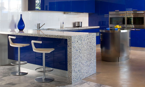 Heat Resistant, Durable And Stylish Recycled Glass Surfaces Can Be Used In  Traditional Kitchen Countertop Applications Or Add Glamour To Unexpected  Spaces ...