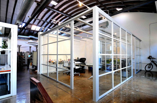 Ce center Interior glass partition systems