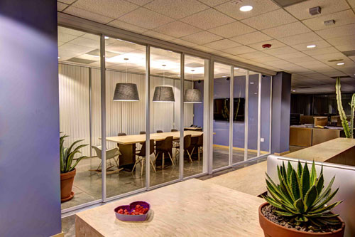 Ce Center Light And Truth Greener Interiors With Glass Partitions