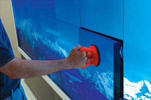 Digital Walls ce center - rear-projection tiled digital media walls