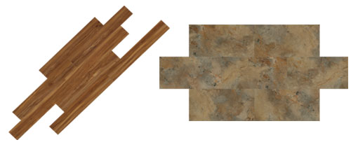 Interlocking Floating Plank (left) And Tile (right) Floors Meet Stringent  Testing Requirements For Indentation, Fire, And Smoke Safety.
