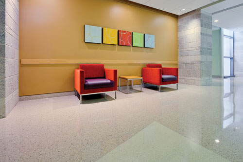 Ce center functional color and design in healthcare for Medical office paint colors
