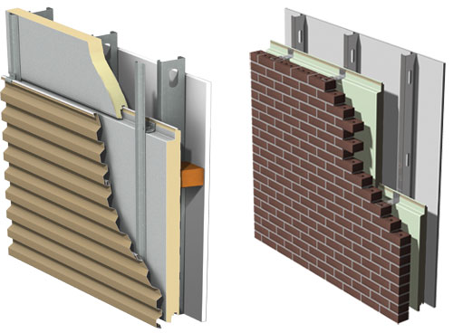 Composite Brick Panels : Ce center insulated composite backup panels