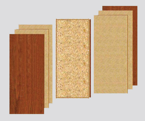 Commonly used for commercial applications seven-ply wood doors include a core backer materials crossbands and thinner face materials. & CE Center -