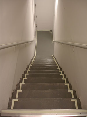 The Primary Purpose Of A Handrail Along A Set Of Stairs Is For Stability Of  A Person Navigating The Stairs. Handrails Are Marked Along Their Length  With A ...