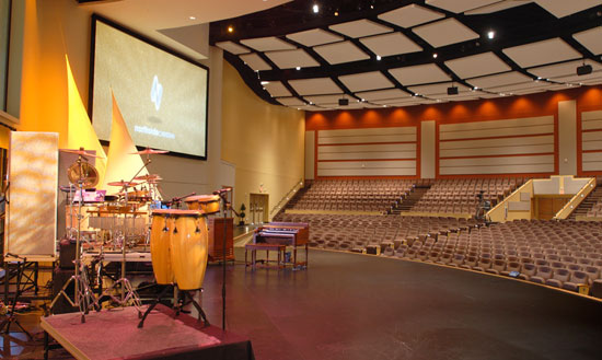Photo of Northside Christian's performance space.