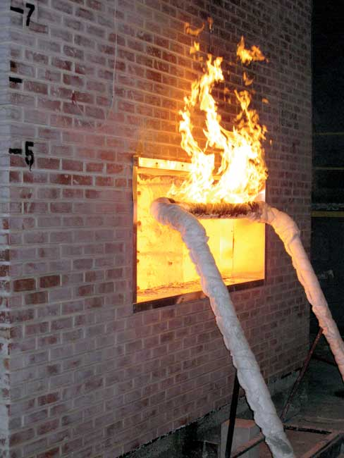 Ce Center Navigating Wall Assembly Fire Testing
