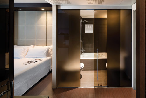 Interior Glass Doors Help Increase The Sense Of Light And Space In Hotel  Rooms.