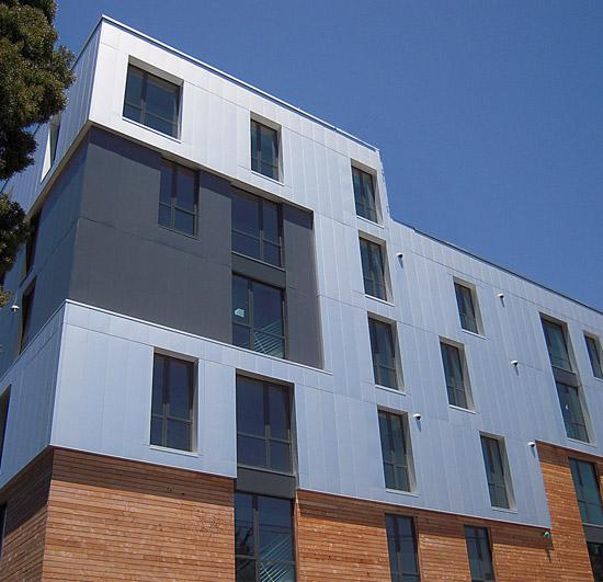 White Aluminum Composite Panel : Ce center anodized aluminum for architectural applications