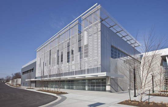 Aluminum Building Facade : Ce center expanded metal mesh in architecture