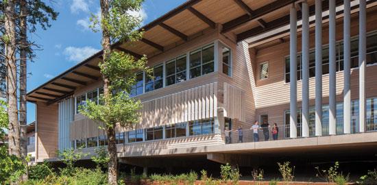 Red Cedar School ~ Ce center natural winner western red cedar and