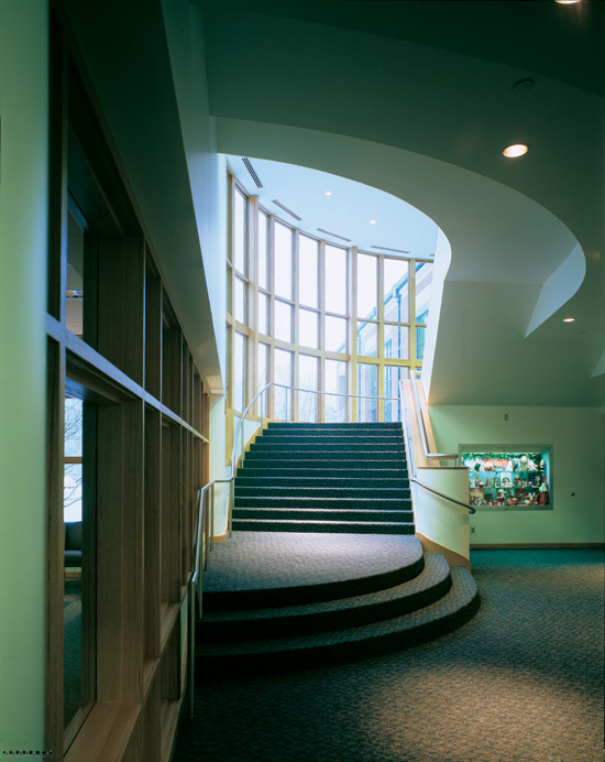 Rochester Hills Library Designed By Architects TMP. Energy-efficient Large Window Expanses Encourage Patrons To Use The Stairs And Provide Connectivity . & Efco D518 Doors \u0026 \\\