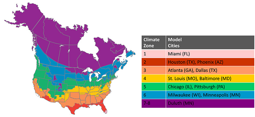 CE Center - Us climate map zone