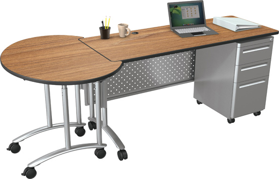 Flexible Desk Options Allow Teachers To Configure The Station That Is Right  For Their Individual Needs