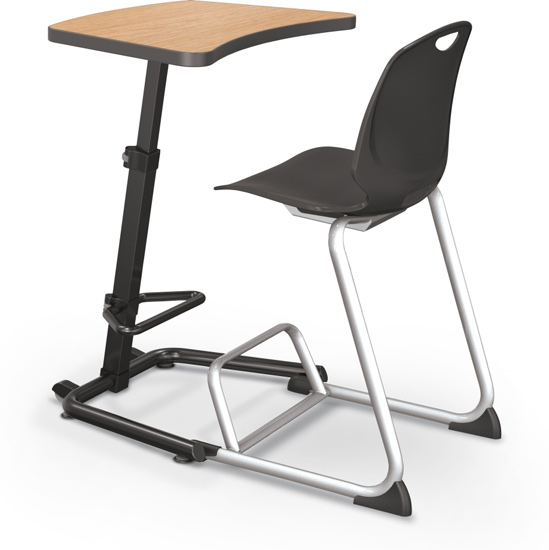 Desks That Allow Students To Sit Or Stand Helps Them Keep Focused.
