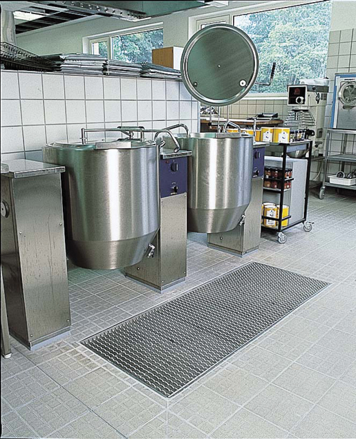 Stainless steel channel drains can be easily cleaned and sterilized for use in many settings.