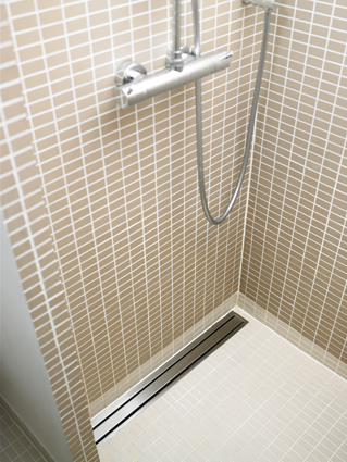 Stainless steel channel drains are both an attractive and hygienic solution for hospital and hotel settings.