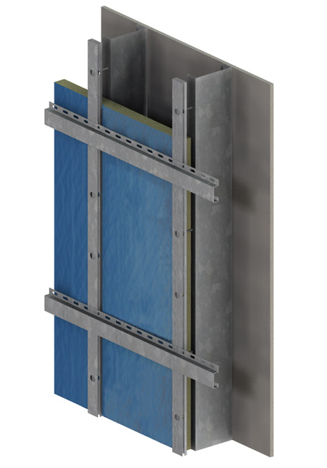 rigid foam system with a properly designed highbending strength girt and no thermal bridges