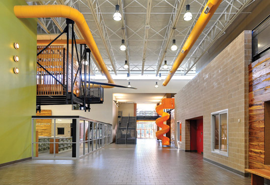 Top Geothermal And Heat Pumps Are Used In Schools Like Gloria Marshall Elementary School With What Is Interior Design