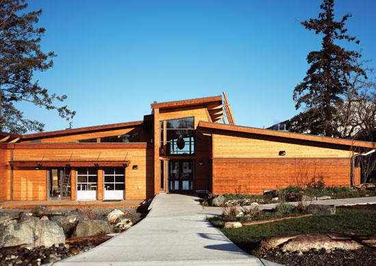 Red Cedar School ~ Ce center growing bolder specifying western red cedar