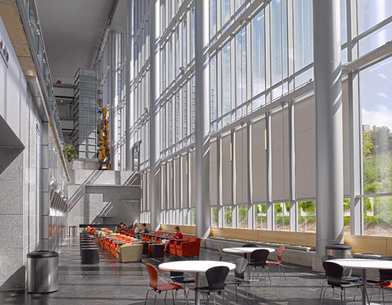Automated shades can boost building occupant comfort while decreasing energy costs.