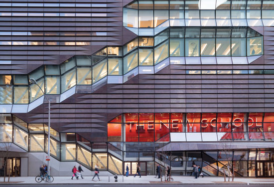 The Uncoiled Stair Profiles Are Expressed On The Exterior Of The New School  University Center And