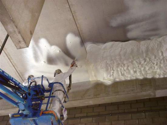 Ce Center Open Cell Spray Foam Insulation In Commercial