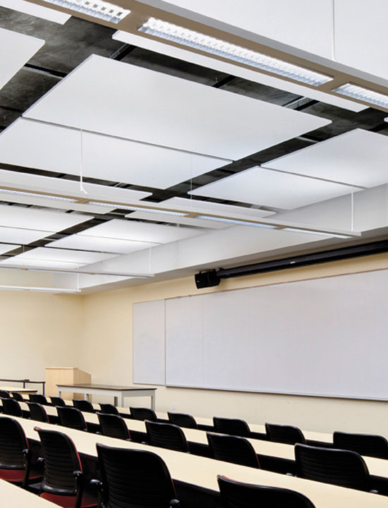 Acoustically designed classrooms following ANSI Standard S12.60 creates spaces that promote better learning and speech intelligibility.
