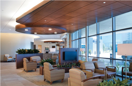 Acoustically isolated spaces in healthcare facilities help control sound transfer and protect privacy.