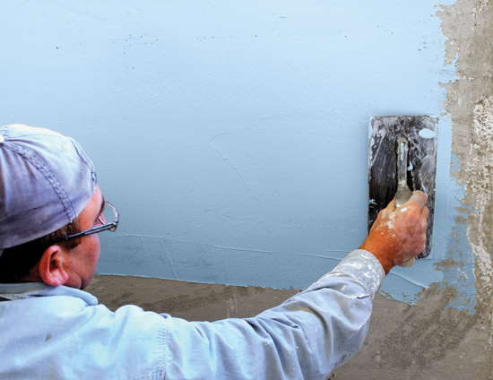 Fluid-applied membrane systems can be applied to an appropriate substrate by using a trowel, a roller, or a sprayer as field conditions may warrant.