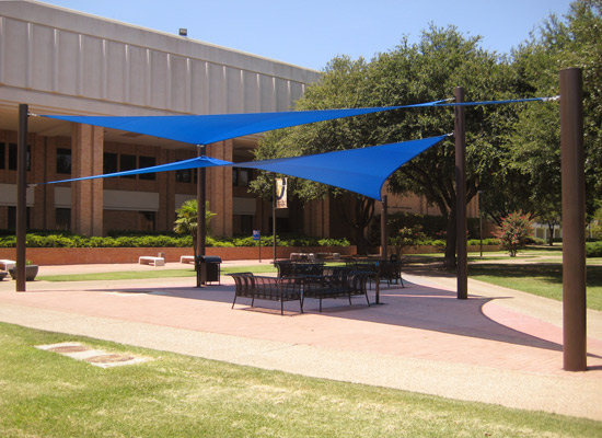 A fabric structure can create an outdoor room.