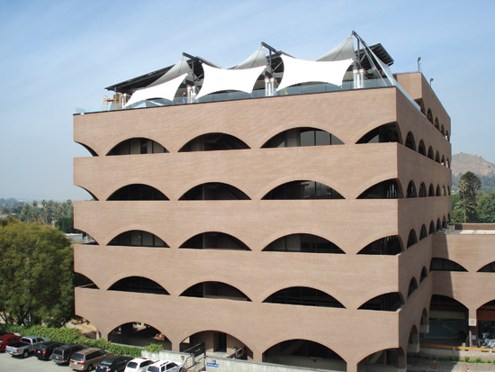 Fabric architecture can contribute to LEED points in several categories, including Heat Island Effect.