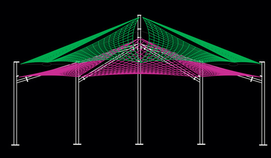 The fabric structure begins with an idea, which will determine its form.