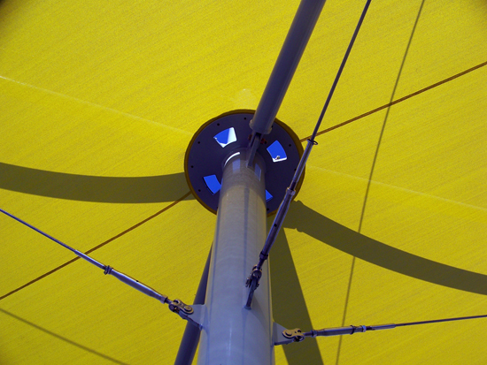 The complexity of the installation depends on the intricacy of the fabric structure.