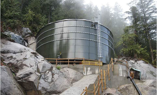 Glass-fused-to-steel tanks can be erected in the most remote areas if necessary.