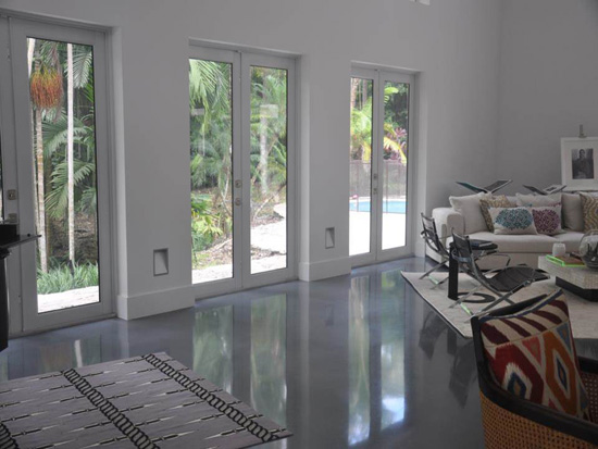 Polished Concrete Floors Work Well In Residential Settings Too Particularly When Pive Solar Heating Is
