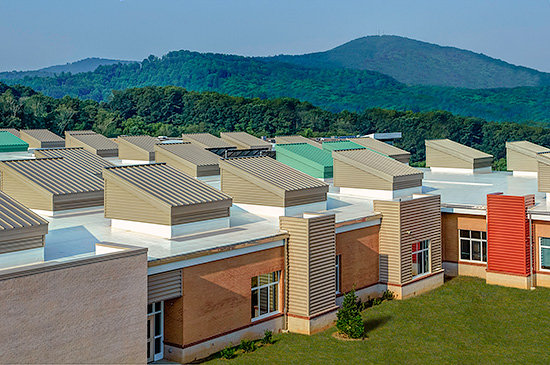 Architectural Design Studio Asheville. Sustainability was a driving directive for the design of Eblen  Intermediate School provided by Architectural CE Center