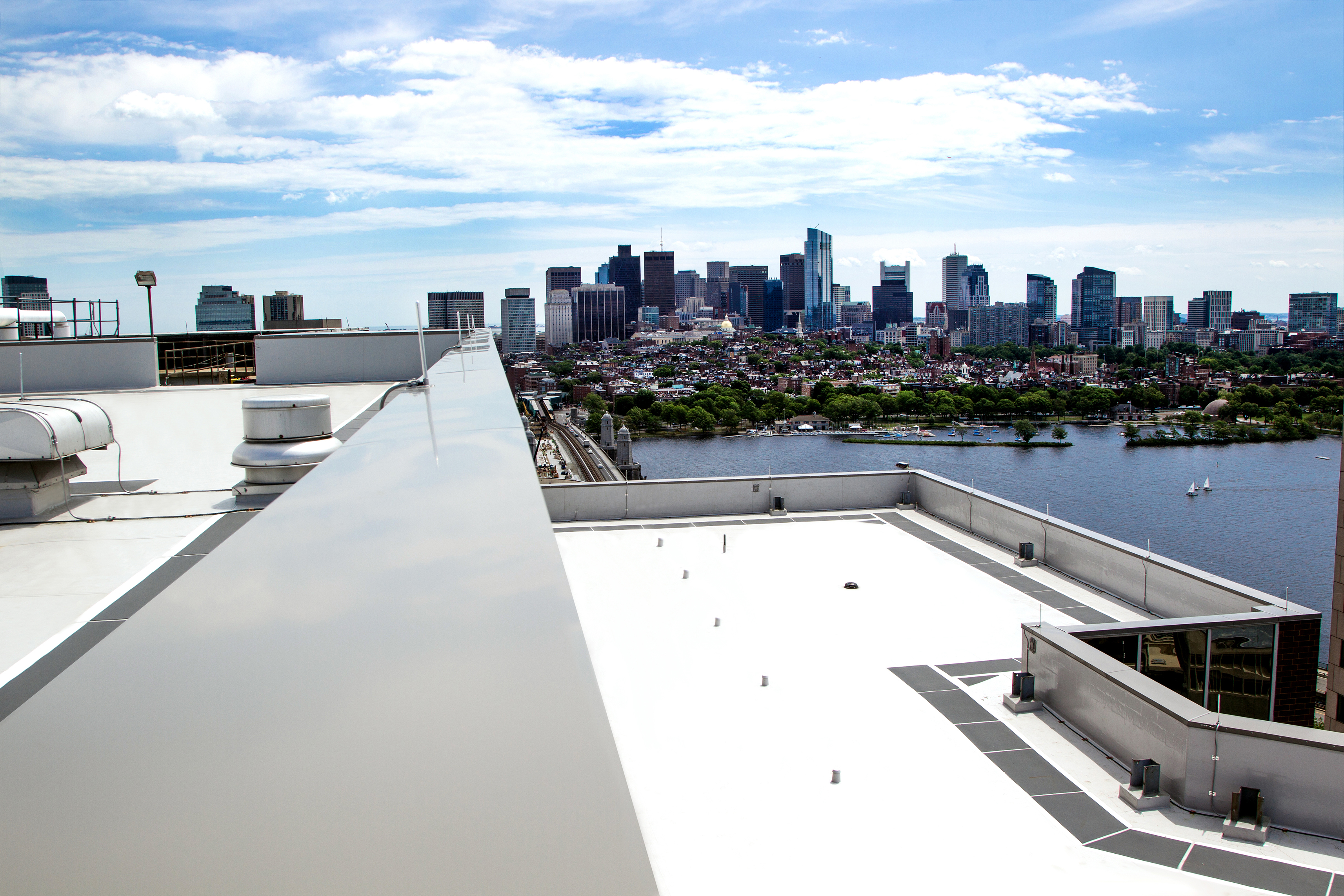 Cool roofs deflect solar energy away from a building and back to the atmosphere and beyond.