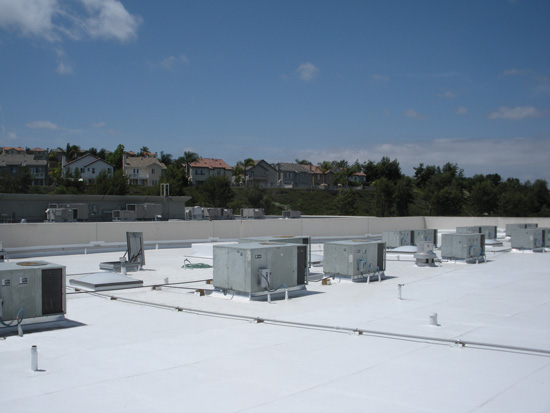 PVC membranes can be prefabricated to fit each roof and penetration.
