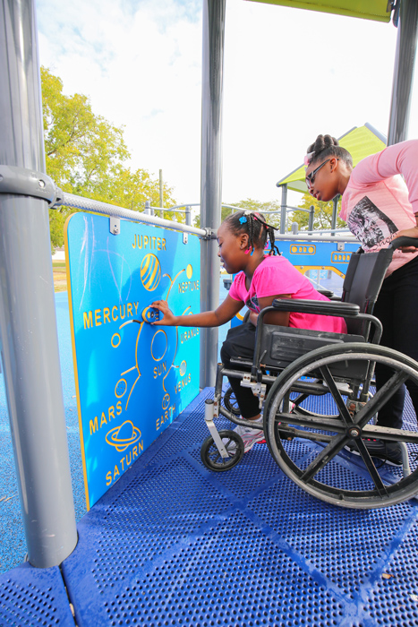 Playgrounds should be accessible to all children and inclusive of all children.