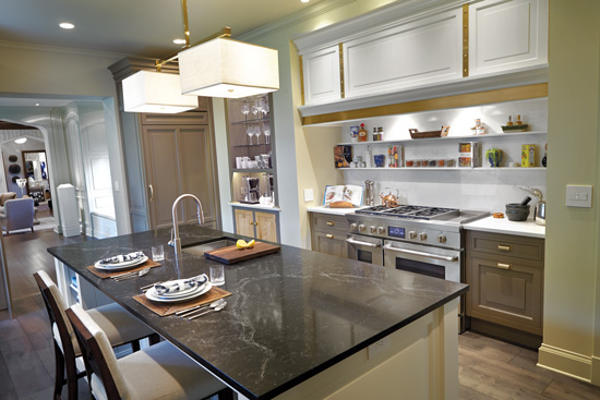 Universal design and sustainable living come together most notably in the design of efficient, accessible kitchens.