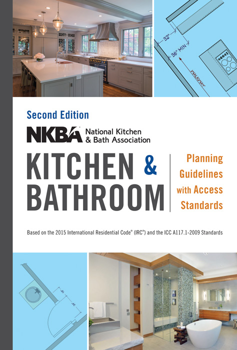 The National Kitchen and Bath Association (NKBA) has authored a set of design guidelines for kitchens and bathrooms with accessibility standards included. A new, second edition is expected in January of 2016 published by John Wiley & Sons.