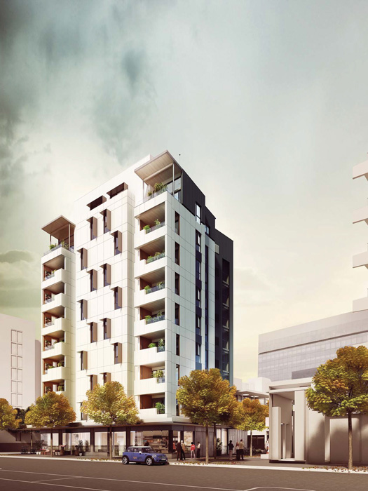 Completed in 2012, the Forté in Australia includes ten stories of cross laminated timber.