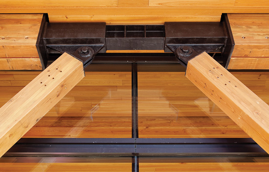 Wood And Steel Structure : Engineering center connection options for wood frame and