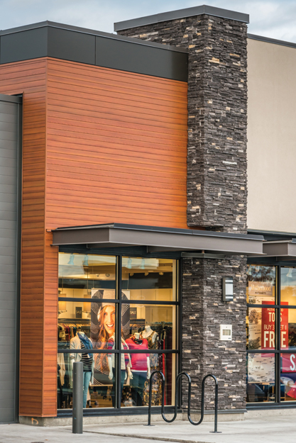 Commercial Wood Cladding ~ Ce center innovations in aluminum cladding systems