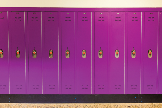 HDPE lockers can contain post-consumer and post-industrial recycled content.