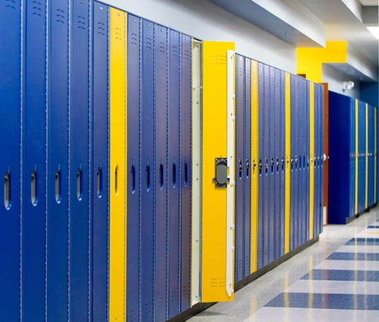 HDPE lockers have earned GREENGUARD Gold certification and are recognized as a low-emitting material.