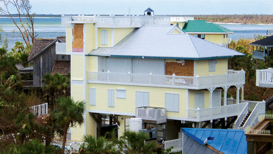 After Hurricane Charley, FEMA noted no structural damage to new wood-frame buildings built to the 2001 Florida Building Code standards.
